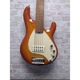 Ernie Ball Music Man 1990 Fretless StingRay 5 Electric Bass (Orange)