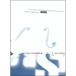 Jamey Snidero-Easy Jazz Conception for Violin (Book and CD)