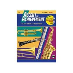 Image for Accent on Achievement Book 1 for Clarinet (Book and CD) from SamAsh