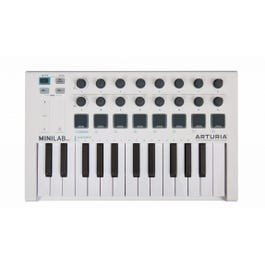 Image for MiniLab MKII 25-Key USB MIDI Controller (White) from SamAsh