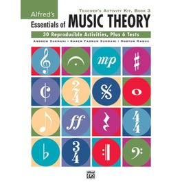 Image for Essentials of Music Theory Teacher's Activity Kit Book 3 from SamAsh