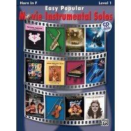 Alfred Easy Popular Movie Instrumental Solos for French Horn (Book and CD)