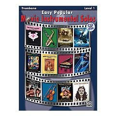 Image for Easy Popular Movie Instrumental Solos for Trombone (Book and CD) from SamAsh