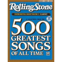 Alfred Rolling Stone Magazine's 500 Greatest Songs of All -Volume 2 -Clarinet Book & CD