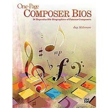 Image for One-Page Composer Bios (Teacher's Handbook) from SamAsh
