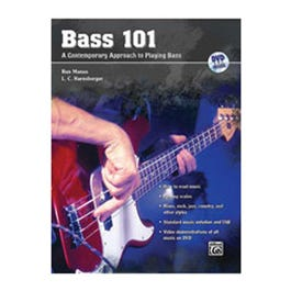 Image for Bass 101 (Book and DVD) from SamAsh