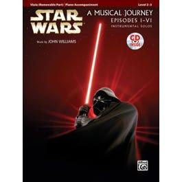 Alfred Star Wars® Instrumental Solos for Strings (Movies I-VI)-Viola Book & CD