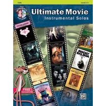 Image for Ultimate Movie Instrumental Solos for Strings -Cello-Book & CD from SamAsh