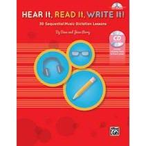 Alfred Hear It, Read It, Write It!-Book & CD