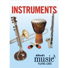 Image for Alfred's Music Playing Cards: Instruments (1 Pack) -Textbook - General from SamAsh