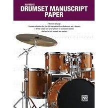 Alfred Alfred's Drumset Manuscript Paper -Book