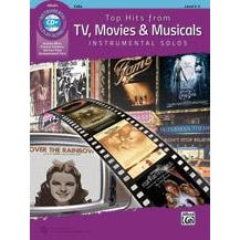 Alfred Top Hits from TV, Movies & Musicals Instrumental Solos for Strings -Cello -Book & CD