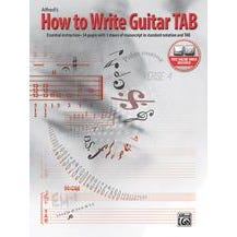 Alfred How to Write Guitar TAB-Book & Online Video