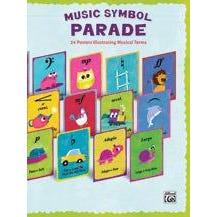 Alfred Music Symbol Parade -24-Poster Set
