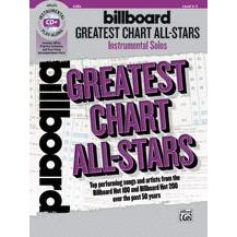 Alfred Billboard Greatest Chart All-Stars Instrumental Solos for Strings -Cello -Book & CD