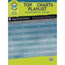 Alfred Easy Top of the Charts Playlist Instrumental Solos -Trombone -Book & CD