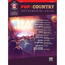 Alfred Pop & Country Instrumental Solos for Strings -Cello Book & CD