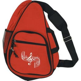 Aim Music BODY BACKPACK G-CLEF & STAFF-RED