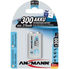 Ansmann Low Self-Discharge Rechargeable Battery, 9 Volt