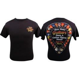Aim Music T Shirt How Many Guitars -Small