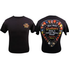 Aim Music T Shirt How Many Guitars -Extra Large