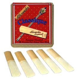 Image for Classique Alto Saxophone Reeds Box of 5 (Assorted Strenghts) from SamAsh
