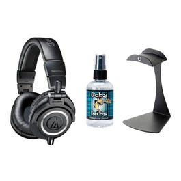 Image for ATH-M50x Professional Monitor Headphones with Stand and Cleaner from SamAsh