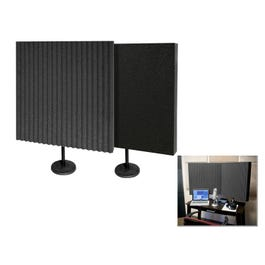 Image for DeskMAX Baffle Kit - Portable Absorption Treatment Panels with Stands, Pair from SamAsh