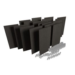 Auralex ProPanel ProKit-2 Acoustical Room Treatment System, Obsidian