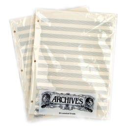 Archives Archives Looseleaf Manuscript Paper , 12 Stave, 50 Pages