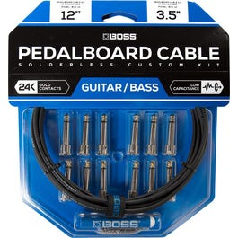 Boss BCK-12 Solderless Pedalboard Kit, 12 ft Cable/ 12 Connectors