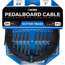 Boss BCK-24 Solderless Pedalboard Kit, 24 ft Cable/ 24 Connectors