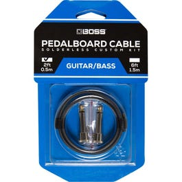 Boss BCK-2 Solderless Pedalboard Kit, 2 ft Cable/ 2 Connectors