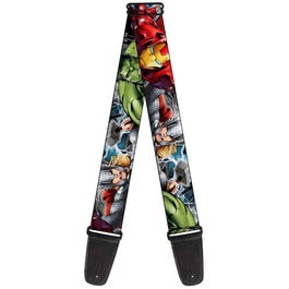 """Buckle-Down 2"""" Marvel Avengers Superheroes Close-Up Guitar Strap"""