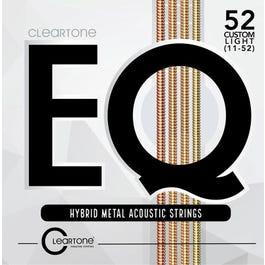 Cleartone EQ 7811 Hybrid Metal Acoustic Guitar Strings, Custom Light, 11-52