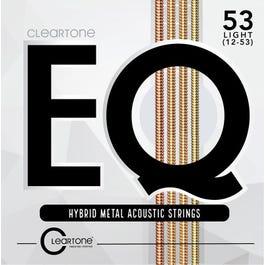 Cleartone EQ 7812 Hybrid Metal Acoustic Guitar Strings, Light, 12-53