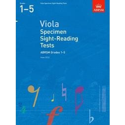CF Peters Specimen Sight-Reading Tests for Viola Gr.1-5 -from 2012