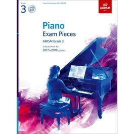 CF Peters ABRSM-Piano Exam Pieces 2017 & 2018 -Grade.3 w/CD