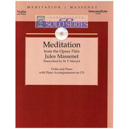 Image for CD Solo Series: Jules Massenet - Meditation for Violin and Piano with CD (Interm from SamAsh