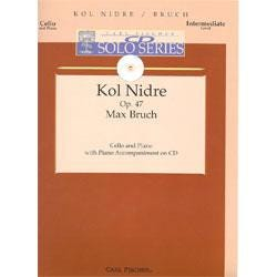 Image for Kol Nidre Op.47 for Cello and Piano Accompaniment-Max Bruch (Book and CD) from SamAsh