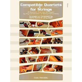Carl Fischer Compatible Quartets for Strings-String Bass Book & CD
