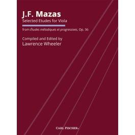 Carl Fischer Mazas-Selected Etudes for Viola, Op. 36