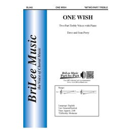 Carl Fischer Perry-One Wish -Two-Part Treble Voices with Piano