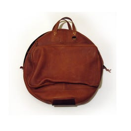 """Cac-Sac 22"""" Deluxe Leather Cymbal Bag, Brown"""