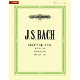 CF Peters Bach-Six Suites BWV 1007-1012