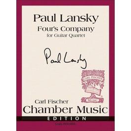 Carl Fischer Lansky -Four's Company-Guitar Quartet