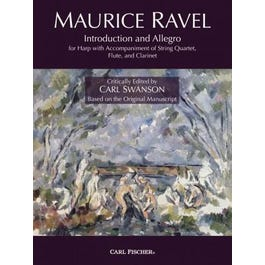 Carl Fischer Ravel-Introduction and Allegro for Harp