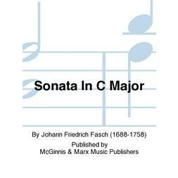 Carl Fischer Fasch-Sonata in C Major-Trombone Solo sheet music