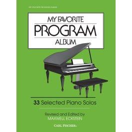 Carl Fischer My Favorite Program Album (Piano)