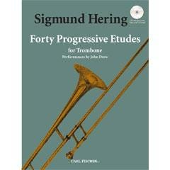 Image for 40 Progressive Etudes For Trombone (Book and CD) from SamAsh